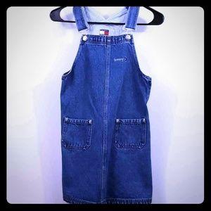 Tommy Hilfiger girls overall dress. Size medium